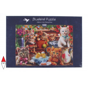 , , , PUZZLE ANIMALI BLUEBIRD GATTI KITTENS IN THE POTTING SHED 1000 PZ
