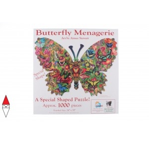 , , , PUZZLE SAGOMATO SUNSOUT FARFALLE AIMEE STEWART - BUTTERFLY MENAGERIE 1000 PZ