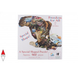 , , , PUZZLE SAGOMATO SUNSOUT AQUILE LORI SCHORY - FREEDOM FOR ALL 900 PZ