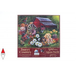 , , , PUZZLE ANIMALI SUNSOUT CANI EILEEN HERB-WITTE - SWEET COUNTRY 500 PZ