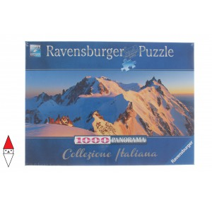 RAVENSBURGER, , , PUZZLE PAESAGGI RAVENSBURGER MONTAGNA MONTE BIANCO PANORAMA 1000 PZ