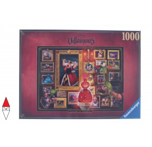 , , , PUZZLE DISNEY RAVENSBURGER CARTONI ANIMATI VILLAINOUS QUEEN OF HEARTS 1000 PZ