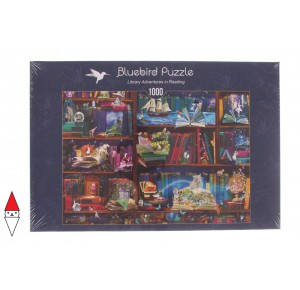 , , , PUZZLE TEMATICO BLUEBIRD LIBRERIA LIBRARY ADVENTURES IN READING 1000 PZ
