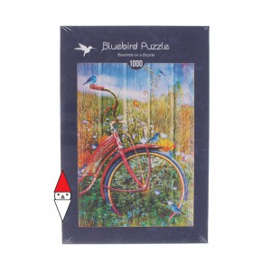 , , , PUZZLE TEMATICO BLUEBIRD BICICLETTE BLUEBIRDS ON A BICYCLE 1000 PZ