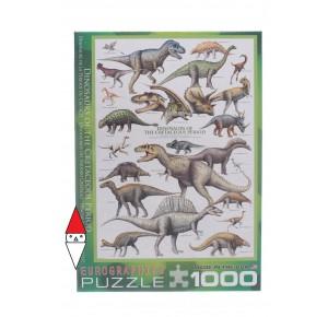 EUROGRAPHICS, , , PUZZLE ANIMALI EUROGRAPHICS DINOSAURI I DINOSAURI PERIODO DEL CRETACEO 1000 PZ