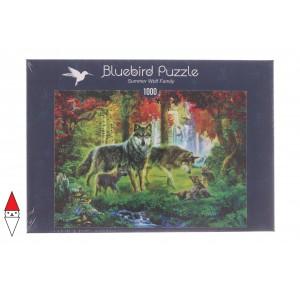 , , , PUZZLE ANIMALI BLUEBIRD LUPI SUMMER WOLF FAMILY 1000 PZ