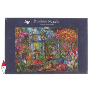 , , , PUZZLE TEMATICO BLUEBIRD GIARDINI TROPICAL GREEN HOUSE 1000 PZ