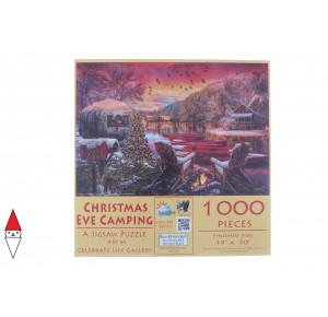 , , , PUZZLE TEMATICO SUNSOUT NATALE CHRISTMAS EVE CAMPING 1000 PZ