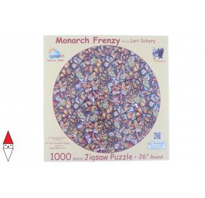 , , , PUZZLE ANIMALI SUNSOUT FARFALLE LORI SCHORY MONARCH FRENZY 1000 PZ