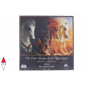 , , , PUZZLE ANIMALI SUNSOUT LINDSBURG-OSORIO FOUR HORSES OF THE APOCALYPSE 1500 PZ