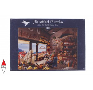 , , , PUZZLE TEMATICO BLUEBIRD NEGOZI JOE AND ROY BAIT AND FISHING SHOP 1000 PZ