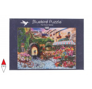 , , , PUZZLE PAESAGGI BLUEBIRD VILLAGGI THE FLOWER MARKET 1000 PZ