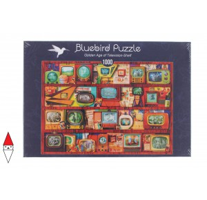 , , , PUZZLE OGGETTI BLUEBIRD VINTAGE GOLDEN AGE OF TELEVISION-SHELF 1000 PZ
