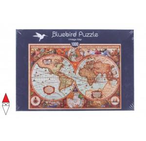 , , , PUZZLE OGGETTI BLUEBIRD CARTE GEOGRAFICHE VINTAGE MAP 1000 PZ