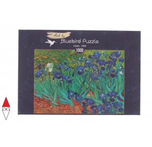 , , , PUZZLE ARTE BLUEBIRD IMPRESSIONISMO VAN GOGH IRISES 1889 1000 PZ