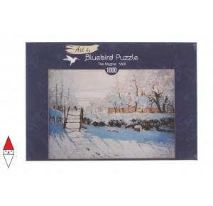 , , , PUZZLE ARTE BLUEBIRD CLAUDE MONET - THE MAGPIE 1869 1000 PZ