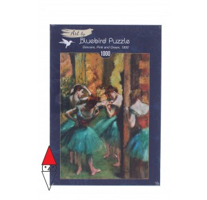 , , , PUZZLE ARTE BLUEBIRD IMPRESSIONISMO DEGAS DANCERS PINK AND GREEN 1890 1000 PZ
