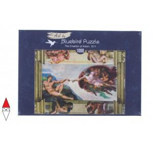 , , , PUZZLE ARTE BLUEBIRD MICHELANGELO THE CREATION OF ADAM 1511 1000 PZ