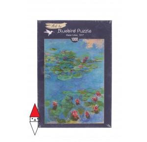 BLUEBIRD, , , PUZZLE ARTE BLUEBIRD IMPRESSIONISMO CLAUDE MONET - WATER LILIES 1917 1000 PZ