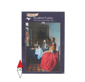 , , , PUZZLE ARTE BLUEBIRD VERMEER-THE GIRL WITH THE WINE GLASS 1659 1000 PZ