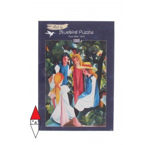 BLUEBIRD, , , PUZZLE ARTE BLUEBIRD PITTURA 1900 AUGUST MACKE - FOUR GIRLS 1913 1000 PZ