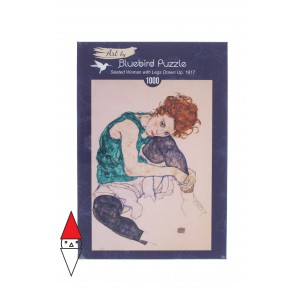 , , , PUZZLE ARTE BLUEBIRD E.SCHIELE - SEATED WOMAN WITH LEGS DRAWN UP 1000 PZ