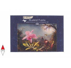BLUEBIRD, , , PUZZLE ARTE BLUEBIRD M.J.HEADE -CATTLEYA ORCHID AND THREE HUMMINGBIRDS 1000 PZ
