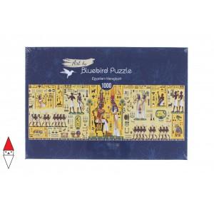 , , , PUZZLE TEMATICO BLUEBIRD ANTICO EGITTO EGYPTIAN HIEROGLYPH PANORAMA 1000 PZ