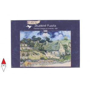 , , , PUZZLE ARTE BLUEBIRD VAN GOGH THATCHED COTTAGES AT CORDEVILLE 1890 1000 PZ