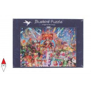 , , , PUZZLE TEMATICO BLUEBIRD CIRCO A NIGHT AT THE CIRCUS 1000 PZ