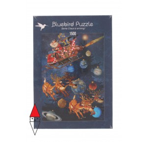 , , , PUZZLE TEMATICO BLUEBIRD NATALE SANTA CLAUS IS ARRIVING 1500 PZ