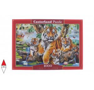 , , , PUZZLE ANIMALI CASTORLAND TIGRI TIGERS BY THE STREAM 1000 PZ