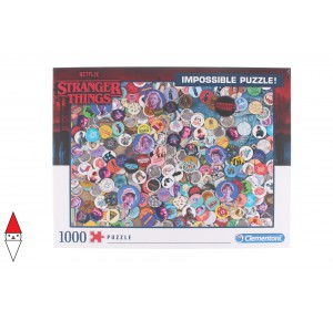 , , , PUZZLE TEMATICO CLEMENTONI FILM E SERIE TV STRANGER THINGS IMPOSSIBLE 1000 PZ