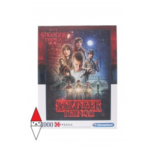 , , , PUZZLE TEMATICO CLEMENTONI FILM E SERIE TV STRANGER THINGS 1000 PZ