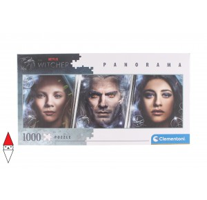 , , , PUZZLE TEMATICO CLEMENTONI FILM E SERIE TV THE WITCHER PANORAMA 1000 PZ
