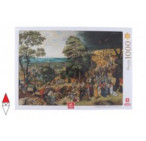 , , , PUZZLE ARTE DEICO PITTURA FIAMMINGA BRUEGHEL CHRIST CARRYING THE CROSS 1000 PZ