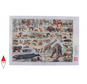, , , PUZZLE ANIMALI DEICO ANIMALI VARI ENCICLOPEDIA ANIMALI SELVAGGI 1000 PZ