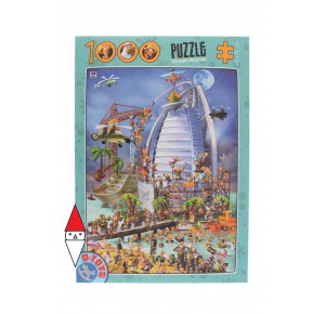 , , , PUZZLE GRAFICA DTOYS FUMETTI CARTOON COLLECTION BURJ AL ARAB 1000 PZ