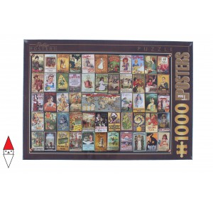 , , , PUZZLE GRAFICA DTOYS STAMPE VINTAGE COLLAGE ADVERTISING THE 1000 PZ
