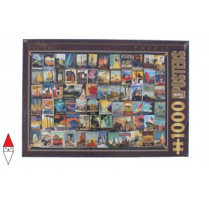 , , , PUZZLE GRAFICA DTOYS STAMPE VINTAGE COLLAGE HOLIDAY PLACES 1000 PZ