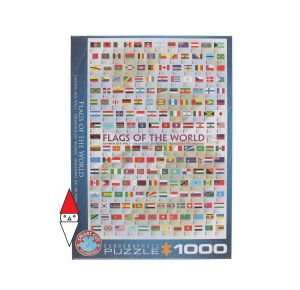 , , , PUZZLE OGGETTI EUROGRAPHICS BANDIERE FLAGS OF THE WORLD 1000 PZ