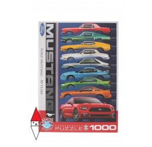, , , PUZZLE TEMATICO EUROGRAPHICS AUTOMOBILI FORD MUSTANG 50 YEARS 1000 PZ