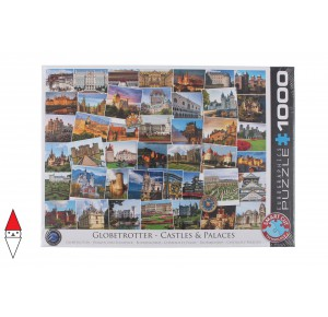 EUROGRAPHICS, , , PUZZLE PAESAGGI EUROGRAPHICS COLLAGE GLOBETROTTER CASTLES AND PALACES 1000 PZ