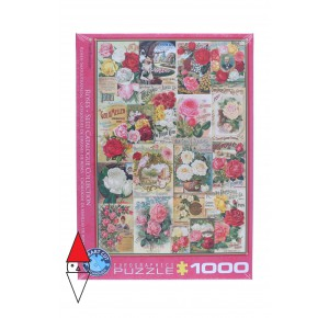 EUROGRAPHICS, , , PUZZLE GRAFICA EUROGRAPHICS ROSES SEED CATALOGUE COLLECTION 1000 PZ