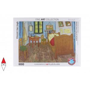 , , , PUZZLE ARTE EUROGRAPHICS VAN GOGH BEDROOM IN ARLES BY VAN GOG 1000 PZ
