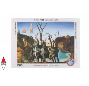 , , , PUZZLE ARTE EUROGRAPHICS PITTURA 1900 SWANS REFLECTING ELEPHANTS DALI 1000 PZ