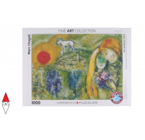 , , , PUZZLE ARTE EUROGRAPHICS PITTURA 1900 THE LOVERS OF VENCE CHAGALL 1000 PZ