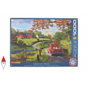 , , , PUZZLE PAESAGGI EUROGRAPHICS CAMPAGNA THE COUNTRY DRIVE 1000 PZ