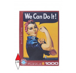 , , , PUZZLE GRAFICA EUROGRAPHICS STAMPE VINTAGE ROSIE THE RIVETER 1000 PZ