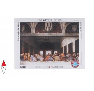 EUROGRAPHICS, , , PUZZLE ARTE EUROGRAPHICS RINASCIMENTO LEONARDO THE LAST SUPPER 1000 PZ